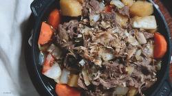 다른 반찬이 필요없는 소고기 감자조림 만들기