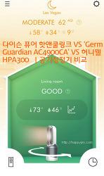 헤파 공기청정기 비교 리뷰 ㅣ 다이슨 퓨어 핫앤쿨링크 VS 'Germ Guardian AC4900CA' VS 허니웰 HPA300