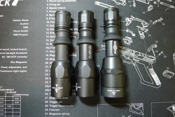 Surefire Combatlight G2ZX, Z2X and P2ZX comparison