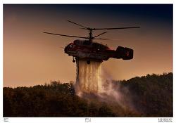 불암산 화재를 진압하는 소방헬기