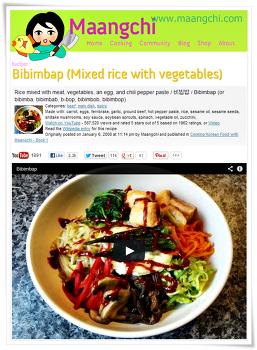 한국 음식 레시피를 영어 동영상으로 알려주시는 망치 아주머니!