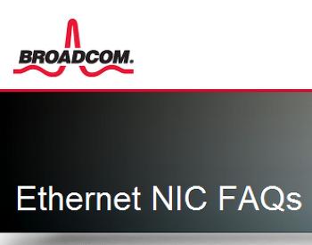 BROADCOM Gigabit 1000Mbit FULL 설정관련 FAQ