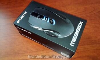 기가바이트 GM-M6980X USB 간단 리뷰. (기가바이트 마우스 드라이버, 필드테스트, 기가바이트 마우스, USB 마우스)