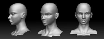 여자얼굴모델링