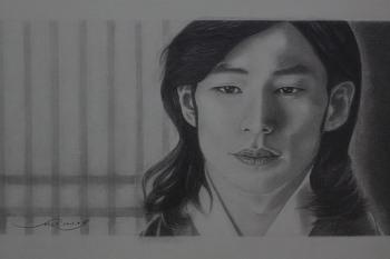 송재림(운검) 그리기 - 연필 초상화 연습