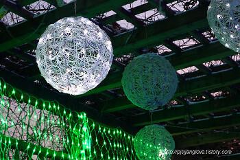 밤이 되면 블링블링 변하는 포천 허브아일랜드 불빛축제
