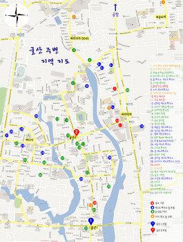 다카 시내지도 외국인 생활 지역 (굴산, 바리다라, 버나니)