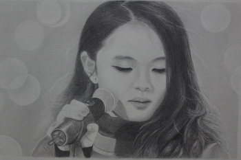 이하이 그리기- 연필초상화