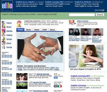 엘로(Elllo) = 영어듣기, 리스닝 무료 영어공부 최대 인터넷 사이트