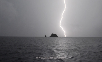 A night of rain and lightning in Raja Ampat, Indonesia