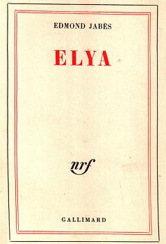 원죄의 뜻: 에드몽 자베스의 『엘리야』에서