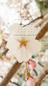 2016년 04월 달력배경화면(폰)