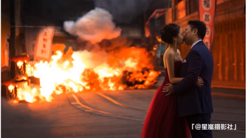 중국 대륙의 웨딩사진의 스케일 - 영화를 찍는다.