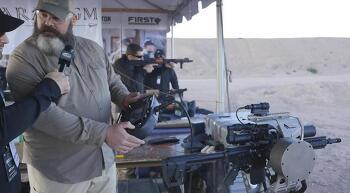 Paradigm SRP - TALON Gyro-Stabilized Weapon Mount - 2016 SHOT Show Live Fire