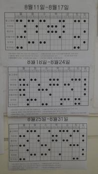 동탄 메타폴리스 연세소아과 기린방, 곰돌이방 8월진료시간표