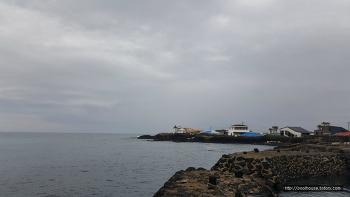 제주도 구좌읍 동복리마을 바닷가의 아름다운 풍경 파노라마