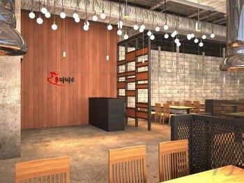 식당 VR 투시도 제작(360도 투시도)
