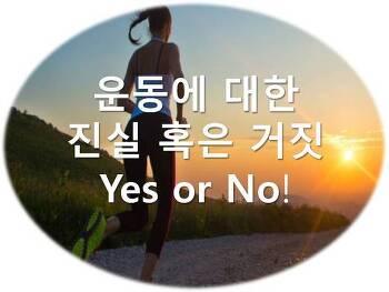 운동에 대한 진실 혹은 거짓 Yes or No!