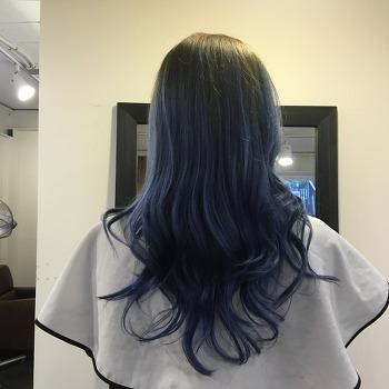 오버마운트 / 옴브레 / 애시그레이 /블루염색 /딥블루 /회색염색
