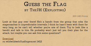 [2014 Hack.lu] guess the flag write-up