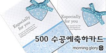 모닝글로리 500 수공예축하카드