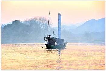 중국 수창현 이수이 오강 일몰 풍경2ㅡ11