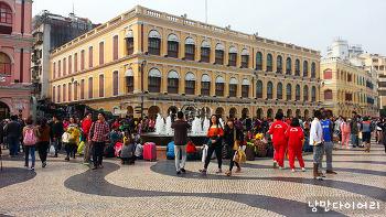 중국 속 작은유럽 마카오여행 필수코스 세나도광장