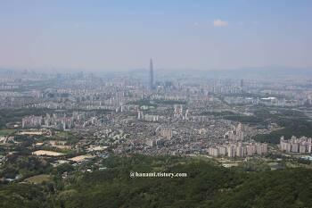 하남시 금암산~남한산성 구간 등산에서 건진 서울시 사진