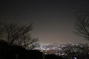 서울 남산에서 본 금성/20161224