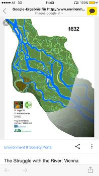 비엔나 다뉴브 도나우강 변천사