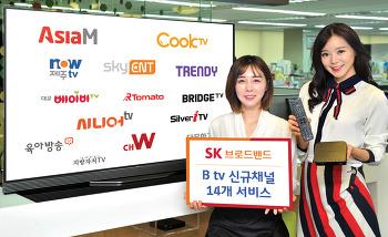 SK브로드밴드, B tv 14개 신규 채널 서비스