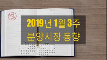 2019년 1월 3주 분양시장 동향