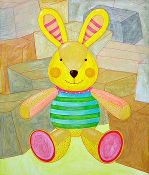생각그림 토끼인형