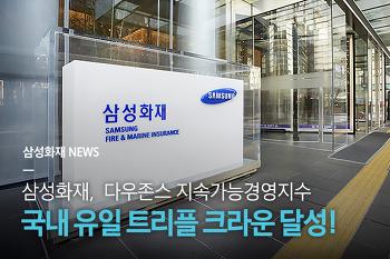 삼성화재, 2018 다우존스 지속가능경영지수 국내 유일 '트리플 크라운' 달성!