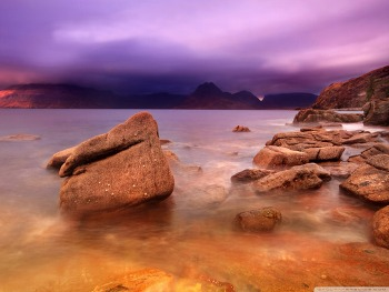 Purple Storm Clouds HD Wallpaper