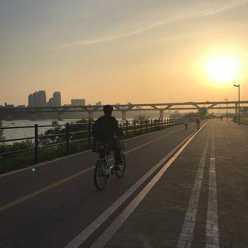 뚝섬 한강공원 자전거 타고 치맥하고!