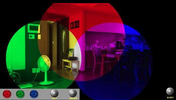 빛의 삼원색 조명 가상실험 프로그램