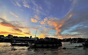 베트남 메콩강의아침 7ㅡ3