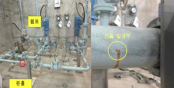 신고리4호기 냉각해수계통 배관 손상