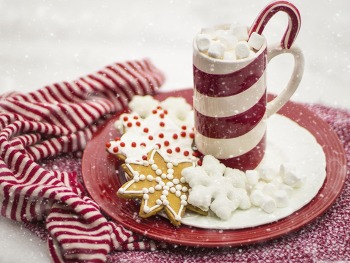 배경화면 사진 Hot Chocolate, Marshmallows, Candy Cane,... HD Wallpaper 무료 배경 이미지