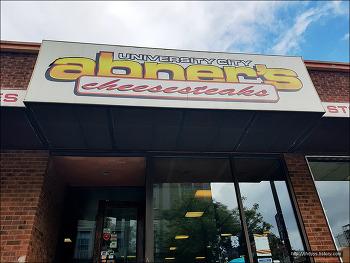 <필라델피바>(4)필라치즈스테이크 Abner's Cheesesteaks