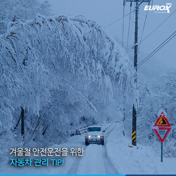[유록스 블로그] 겨울철 안전운전을 위한 자동차 관리 TIP!