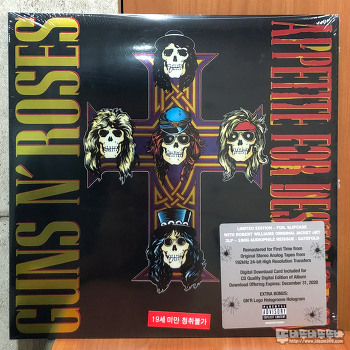 Guns N' Roses - Appetite For Destruction 리마스터 Vinyl