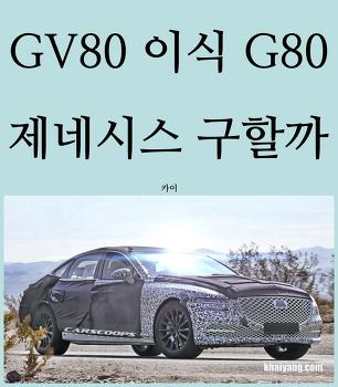 GV80 이식받는 G80, 제네시스 구할까?