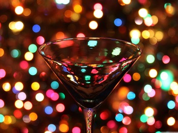 배경화면 이미지 Christmas Through A Martini Glass HD Wallpaper 무료 배경 이미지
