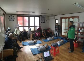 시민구조봉사단, 119수성소방서 의용소방대 지역경로당 심폐소생술교육