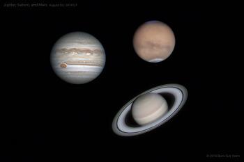 Jupiter, Saturn, Mars 목성, 토성, 화성 2018-08-03