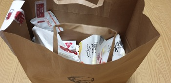 KFC 딜리버리,뒷일은 버림.