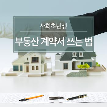사회초년생, 부동산 계약서 쓰는 법