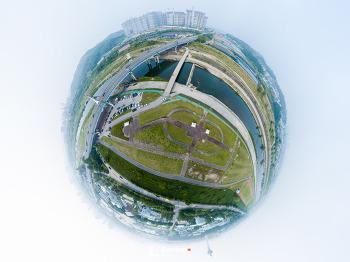 구리 왕숙공원 항공 360 파노라마